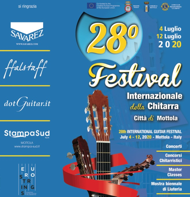 28th Edition - poster and concerts program - 2020